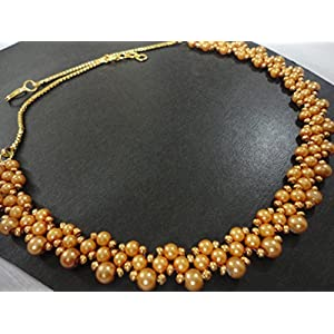 Mona Jewels Gold Pearl Necklace
