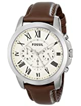Fossil FS4735 Grant Brown Leather Men's Watch