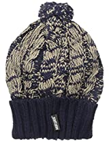 Muk Luks Women's Cable Hat, Galaxy/Almond, One Size