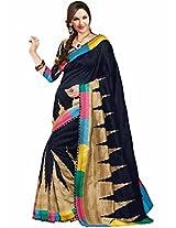 Vipul Tanjavur Silk Black Patola Saree