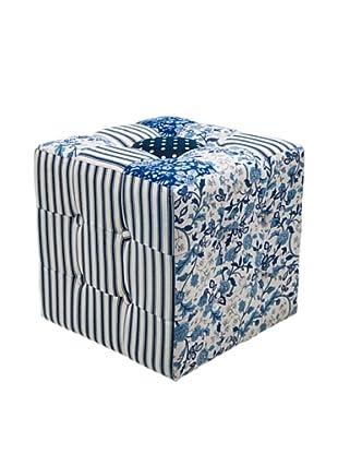 Kare Design Puff Patchwork Blaue Stunde 40 X 40 Cm