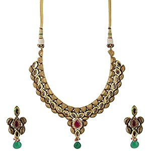 Pearl Paradise Special Gujarat Style Kundan Necklace For Women