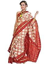 Exotic India Silk Saree (Sdc25 _Red)