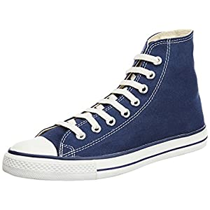 Converse Men's Navy Blue Canvas Sneakers - 4 UK