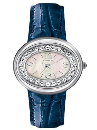 K&BROS 9158-2 / Reloj de Señora  con correa de piel azul