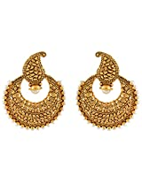 Nakshatra Collection Golden Antique Copper Dangle & Drop Earring For Women