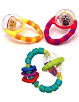 Flip & Grip Rattle + Grab & Spin Rattle Set