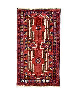 L'Eden del Tappeto Teppich Beluchistan rot/dunkelblau 154t x t90 cm