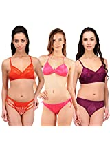 Urbaano Multi HINA Bridal Set-URM0906T-Purple,Orange , Pink (32)