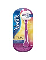 Gillette Venus & Olay Sugarberry Scent Razor 1 Kit, 1.000 Count