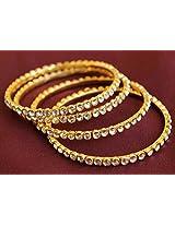 Kundan Gold Plated 4 Pc Bangle Set
