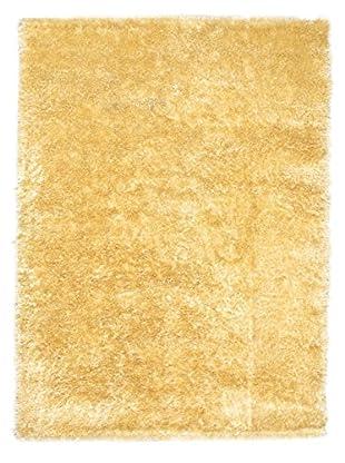Hand-Knotted Casablanca Retro Shag, Light Gold, 5' 3