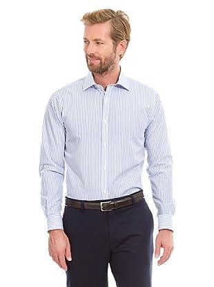 Cortefiel Camisa Secuencia Rayas (Azul)