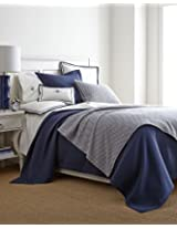 ME PEACOCK ALLEY EMELINE Indigo Midnight Navy Blue FULL/QUEEN COVERLET