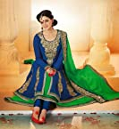 Stylelok Party Wear Embroidered Blue Pure Georgette Suits SL 750001