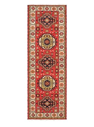 Hand-Knotted Royal Kazak Wool Rug, Red, 2' 9