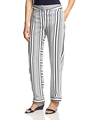 M.Patmos Women's Striped Pajama Pant (Navy/White)