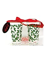 Lolita by CR Gibson Acrylic Tumblers, Holly Berry, Set of 2