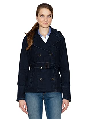 Tommy Hilfiger Gabardina Savannah Indigo Short Trench (Denim)