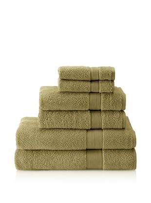 Espalma 6-Piece Signature Bath Towel Set, Olive