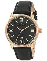 Lucien Piccard Men's 11576-RG-01 Clariden Black Textured Dial Watch
