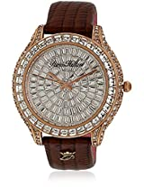 H Ph13577jsr/04 Brown/Silver Analog Watch Paris Hilton