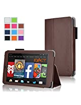 Fire HD 6 Case - Exact Amazon Kindle Fire HD 6 Case [PRO Series] - Premium PU Leather Folio Case for Amazon Kindle Fire HD 6 (2014) Brown