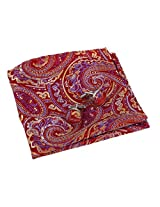 EEF7B02B Red Purple Paisley In Bulking Hanky Woven Microfiber Pocket Square Mens Cufflinks Set International By Epoint