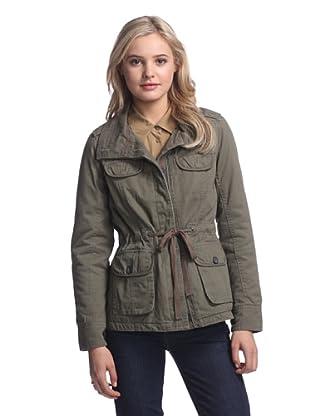 Coffeeshop Women's Twill Utility Jacket (Army Green)