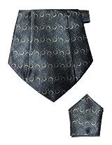 Grey Cravat with Pocket Square