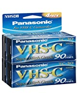 Super High-grade Vhs-c Videocassette 4 pack