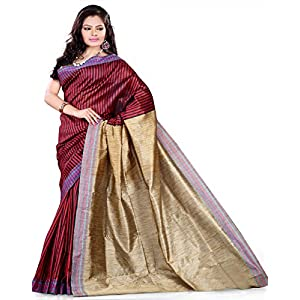 E-Vastram Cotton Silk Saree (Ksm _Maroon)