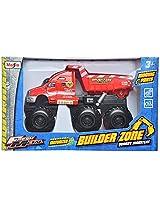 Maisto Quarry Monsters Dump Truck Die Cast Toy Truck (Red)