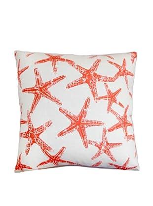 The Pillow Collection Ilene Coastal Pillow, Salmon/White