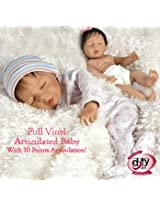 Ball Jointed Baby Doll, Bundle of Joy, 10 Points of Articulation, 18-inch Full Vinyl