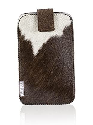 Natural iPhone Cowhide Case (Brown/White)