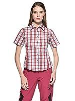 Salewa Hannah Dry Camisa (Rojo / Azul)