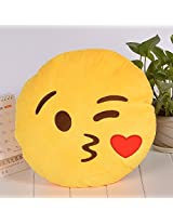 Keetek 32cm Soft and Durable Smiley Emotion Cushion Pillow Fashion Round Stuffed Plush Toy Soft 10 S