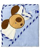Luvable Friends Fancy Hooded Bath Wrap, Blue