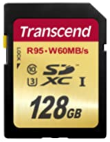 Transcend 128 GB High Speed 10 UHS-3 Memory Card 95/60 MB/s (TS128GSDU3)