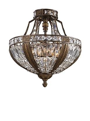 Artistic Lighting Millwood 6-Light Semi-Flush in Antique Bronze