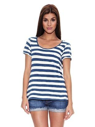 Springfield Camiseta Indigo (Azul Blanco)