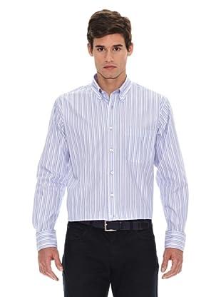 Turrau Camisa Raya Fina / Ancha Multicolor (Azul / Lila)