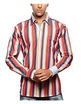Moksh Men's Striped Casual Shirt V2IMS0414-226 (Large)