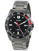 Pulsar Unisex PS9105 Analog Japanese-Quartz Black Watch