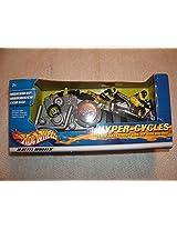 Mattel Hot Wheels Hyper Wheels Motorcyles - Silver and Blue