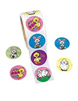 Easter Bunny & Chick Roll of Stickers (100 Stickers Per Roll)