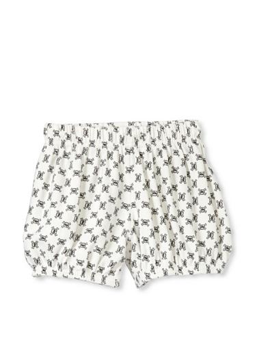 NUNUNU Baby Checkered Yoga Shorts (White)