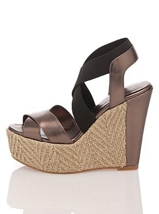 Apepazza Keil-Sandalette Elinor (Bronze/Schwarz)