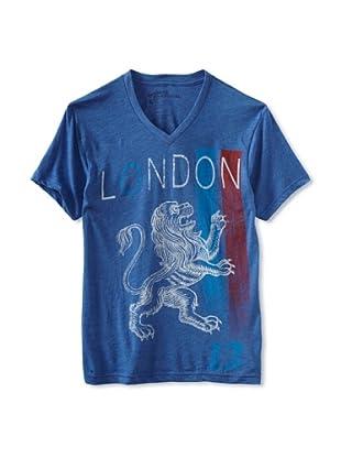 Kinetix Men's London V-Neck Tee Shirt (Royal Blue)